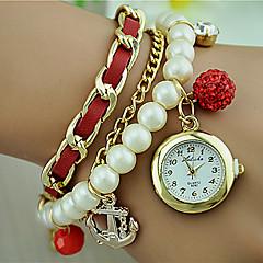 お買い得  大特価腕時計-女性用 クォーツ ブレスレットウォッチ ファッションウォッチ 合金 バンド パール ブラック 白 ブルー レッド ベージュ