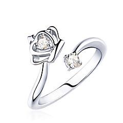 preiswerte Ringe-Damen Statement-Ring - Sterling Silber, Krystall Modisch Verstellbar Silber Für Party / Alltag / Normal