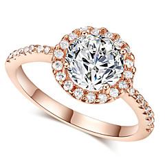 preiswerte Ringe-Damen Kristall Statement-Ring - Diamantimitate Klassisch, Liebe, Modisch Eine Größe Silber / Golden Für Hochzeit Party