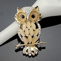 Damskie Broszki Modny Słodkie Style biżuteria kostiumowa Kryształ Sowa Biżuteria Na Ślub Impreza Specjalne okazje Urodziny Codzienny