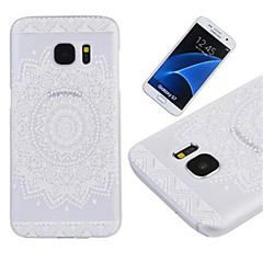 billige Galaxy S4 Mini Etuier-Etui Til Samsung Galaxy Samsung Galaxy S7 Edge Transparent Bagcover Mandala-mønster PC for S7 edge S7 S6 edge S6 S5 Mini S5 S4 Mini S4