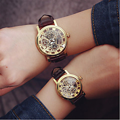 preiswerte Armbanduhren für Paare-Herrn Damen Paar Totenkopfuhr Quartz Schwarz / Weiß Transparentes Ziffernblatt Analog Charme Modisch - 4 # 5 # 6 # Ein Jahr Batterielebensdauer / SODA AG4