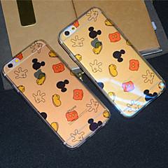 Для Кейс для iPhone 6 Кейс для iPhone 6 Plus Чехлы панели Полупрозрачный С узором Задняя крышка Кейс для Мультипликация Мягкий