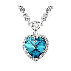 preiswerte Halsketten-Damen Kristall Anhängerketten - Krystall Herz, Liebe Einfach, Klassisch, Modisch Purpur, Rose, Blau Modische Halsketten Für Besondere Anlässe, Geburtstag, Geschenk