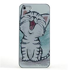 お買い得  iPhone 5S/SE ケース-ケース 用途 iPhone 7 / iPhone 5 / Apple iPhone 5ケース パターン バックカバー 猫 ハード PC のために iPhone 7 / iPhone SE / 5s / iPhone 5