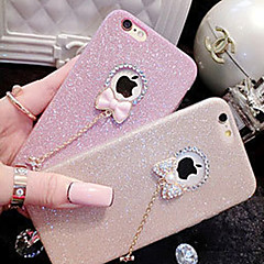 billige Etuier til iPhone 6-Til iPhone X iPhone 8 iPhone 7 iPhone 7 Plus iPhone 6 iPhone 6 Plus iPhone 5 etui Etuier Rhinsten Bagcover Etui Glitterskin Blødt TPU for