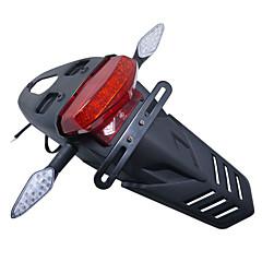abordables Iluminación para Moto-guardabarros cola lámpara de luz trasera para bicicleta de inflexión honda de tierra a cielo fuera 50-150cc motocicleta todo terreno
