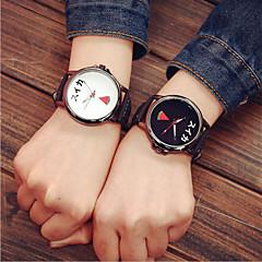voordelige Horloges voor stelletjes-Heren Dames Voor Stel Sporthorloge Kwarts PU Band Meerkleurig # 4 5 # 6 # 7 # 8 #