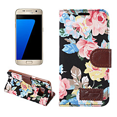 Samsung Galaxy S7 szélén s6 szélén plusz burkolata virágok pu bőr mobiltelefon tokkal S5 S4 S4 aktív s4 mini s5 mini s3