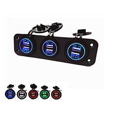 abordables Electrónica de Coche-Lossmann caliente! panel de tres hoyos con USB. la moda a prueba de agua bella
