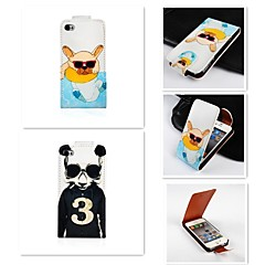 For iPhone 5 Case Flip Case Full Body Case Dog Hard PU Leather iPhone SE/5s/5