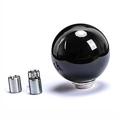 abordables Volantes y Accesorios-bola redonda de cambios en forma pomo de la palanca de cambio automático blanco universal para coche manual