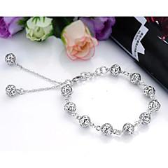 preiswerte Armbänder-Damen Ketten- & Glieder-Armbänder Bettelarmbänder - Sterling Silber Armbänder Weiß Für Weihnachts Geschenke Hochzeit Party