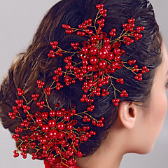 Women's Pearl Flower Hair Jewelry Combs for Wedding Party