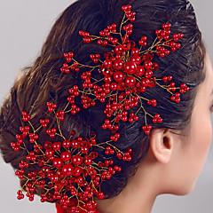 저렴한 -웨딩 파티 여성의 진주 꽃 머리 보석 빗