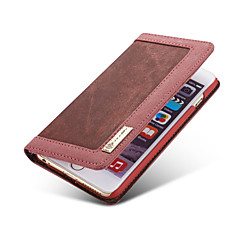 Недорогие Кейсы для iPhone 6-Кейс для Назначение Apple iPhone 8 iPhone 8 Plus Кейс для iPhone 5 Бумажник для карт Кошелек со стендом Флип Чехол Сплошной цвет Мягкий