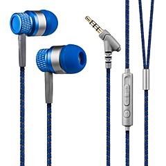 Kanen 3,5 mm håndfri stereo i øret hovedtelefon lav bas headset med mikrofon til smartphones