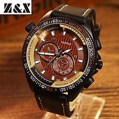 お買い得  大特価腕時計-YAZOLE 男性用 リストウォッチ クォーツ レザー バンド ハンズ ブラック - ブラック Brown ブルー