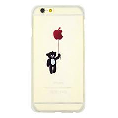 Назначение iPhone X iPhone 8 iPhone 8 Plus iPhone 6 iPhone 6 Plus Чехлы панели Прозрачный С узором Задняя крышка Кейс для Композиция с