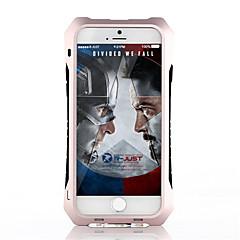 Недорогие Кейсы для iPhone 5-Назначение Кейс для iPhone 5 Чехлы панели Защита от удара Защита от влаги Задняя крышка Кейс для броня Твердый Металл дляiPhone SE/5s