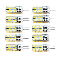 abordables Ofertas Especiales-brelong 10 pcs g4 regulable 2.5w 24led smd2835 maíz blanco claro / blanco cálido / ac12v / dc12v / ac220v