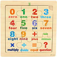 abordables Juguetes de la matemáticas-Puzzle Juguetes matemáticos Juguete Educativo Juguetes Clásico Madera Dibujos Piezas Chico Regalo