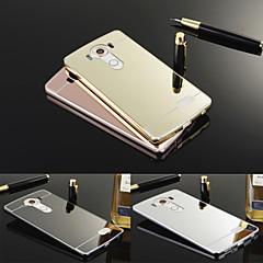 Недорогие Чехлы и кейсы для LG-Кейс для Назначение LG Кейс для LG Покрытие / Зеркальная поверхность Кейс на заднюю панель Однотонный Твердый Акрил для LG V10