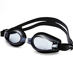 baratos -Óculos de Natação Anti-Nevoeiro Tamanho Ajustável Proteção UV Prova-de-Água silica Gel PC Preto Azul Transparentes