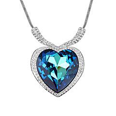 preiswerte Halsketten-Kristall Anhängerketten - Krystall, Kubikzirkonia Herz, Liebe Modisch, Film-Schmuck Blau Modische Halsketten Für Hochzeit, Party, Alltag
