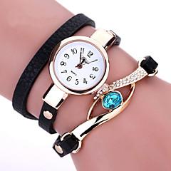 preiswerte Damenuhren-Damen Quartz Simulierter Diamant Uhr Armband-Uhr Modeuhr Imitation Diamant PU Band Böhmische Schwarz Weiß Blau Braun Rose