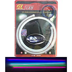 tanie Giętkie taśmy świetlne LED-KWB Giętkie taśmy świetlne LED 120 Diody LED Biały Bursztynowy Różowy Zielony Żółty Niebieski Czerwony Wodoodporne Samoprzylepne