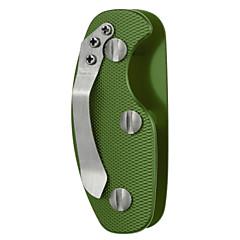 fura açık alüminyum alaşımlı hafif anahtarlık klipsi ile organizatörü - siyah / turuncu / yeşil
