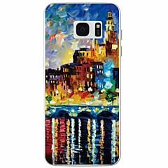 Varten Samsung Galaxy S7 Edge Kuvio Etui Takakuori Etui Kaupunkinäkymä TPU Samsung S7 edge / S7 / S6 / S5
