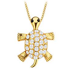 aranyos teknős állati kristály ékszer medál 18k aranyozott férfi / női ajándék p30138