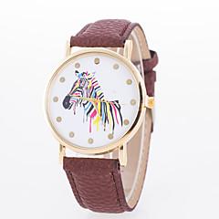 preiswerte Damenuhren-Damen Quartz Armbanduhr Armbanduhren für den Alltag PU Band Elegant Modisch Schwarz Weiß Blau Rot Braun Grün Rosa Rose