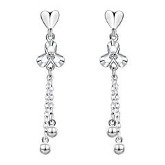 Stangøreringe Klipøreringe Plastik Sølvbelagt Mode Hjerteformet Sølv Smykker Bryllup Fest Daglig Afslappet 1 par