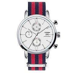 preiswerte Tolle Angebote auf Uhren-SINOBI Herrn Armbanduhr Quartz Wasserdicht Kalender Chronograph Edelstahl Band Analog Charme Rot - Weiß
