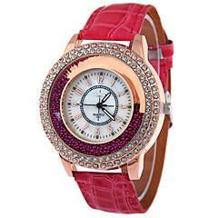 お買い得  大特価腕時計-女性用 フロートクリスタル腕時計 クォーツ カジュアルウォッチ レザー バンド ハンズ ファッション エレガント ブラック / 白 / レッド - Brown レッド グリーン
