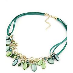 preiswerte Halsketten-Damen Anhängerketten / Statement Ketten / Perlenkette - Perle Kreuz Erklärung, Europäisch, Modisch Purpur, Grün, Regenbogen Modische Halsketten Schmuck Für Party