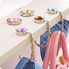 voordelige -mode strass tas keeper gevouwen tas tas houder metal hangbag haak (willekeurige kleur)