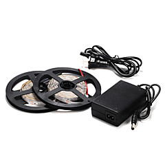 お買い得  LED ストリングライト-5メートル60×2835smd黄/緑ストリップライトと12Vの電源を主導しました