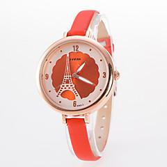 preiswerte Tolle Angebote auf Uhren-Damen Armbanduhren für den Alltag Modeuhr Quartz Leder Band Analog Blume Schwarz / Weiß / Blau - Rosa Marineblau Hellblau