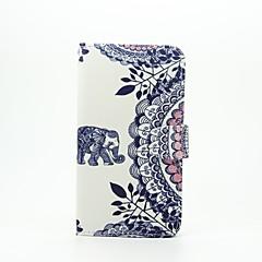 voordelige Hoesjes / covers voor LG-Voor LG hoesje Kaarthouder / Portemonnee / met standaard / Flip / Patroon hoesje Volledige behuizing hoesje Olifant Hard PU-leer LG LG G5