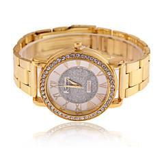 preiswerte Herrenuhren-Herrn / Damen / Paar Armbanduhr Armbanduhren für den Alltag Edelstahl Band Charme / Modisch Silber / Gold / Tianqiu 377