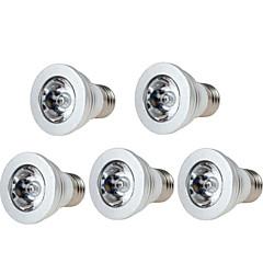 hesapli LED Işık Ampulleri-5 adet 3w e14 / gu10 / gu5.3 / e27 led sahne ışıkları 250lm rgb dim edilebilir uzaktan kumandalı ac85-265v