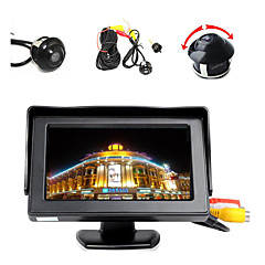 """cheap Car Electronics-4.3"""" LCD Color Display Monitor+360° Front/Sides/Rear Reverse Parking HD Camera"""