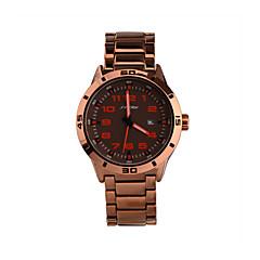 お買い得  メンズ腕時計-SINOBI 男性用 リストウォッチ クォーツ 30 m 耐水 カレンダー スポーツウォッチ 合金 バンド ハンズ チャーム ローズゴールド - ローズ