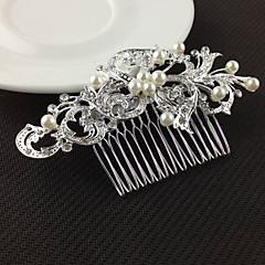 серебряные кристалл жемчужный волос расчески для свадебного банкета повелительницы ювелирных изделий