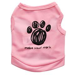 お買い得  犬用ウェア&アクセサリー-ネコ 犬 Tシャツ 犬用ウェア 花/植物 ブラック ブルー ピンク テリレン コスチューム ペット用 男性用 女性用 ファッション