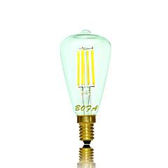 baratos Lâmpadas de LED-2200/2700 lm E14 E12 Lâmpada Redonda LED Tubo 4 leds COB Regulável Decorativa Branco Quente AC 110-130V AC 220-240V